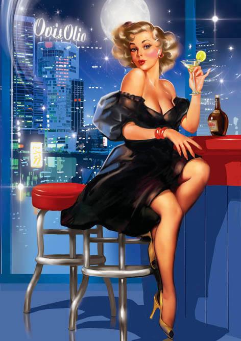 В ночном баре.Pin-Up Girls