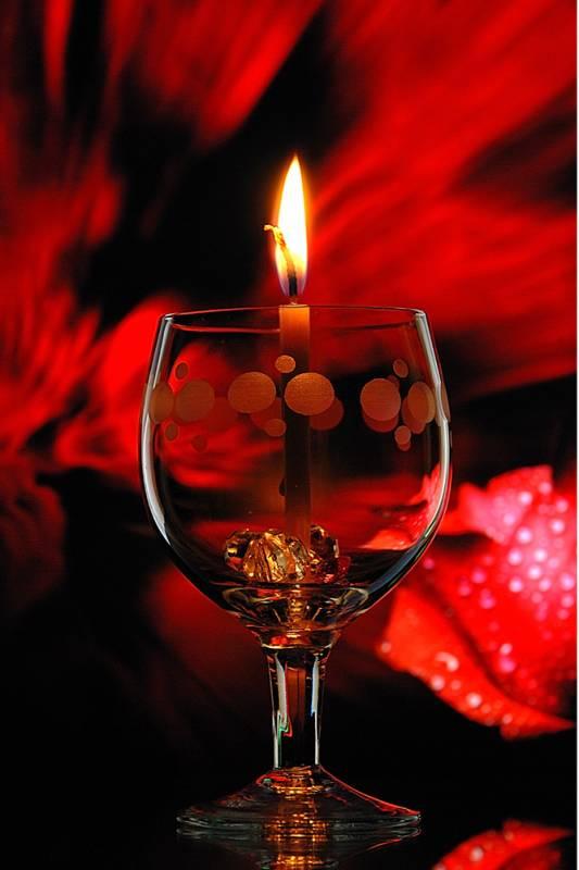 Романтическая свеча.Романтические фоны
